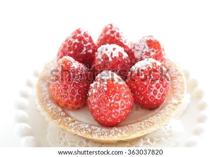 Homemade strawberry tart  - stock photo