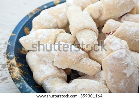 Homemade sweet biscuit - stock photo