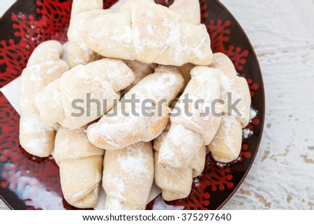 Homemade Sweet Biscuit With Turkish delight - stock photo