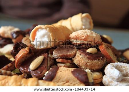 homemade sweet desserts from czech republic - stock photo