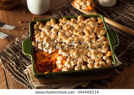 Homemade Sweet Potato Casserole for Thanksgiving - stock photo
