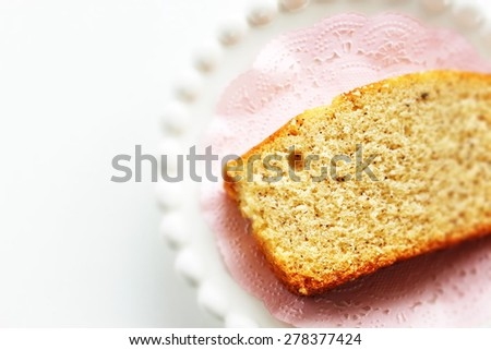 homemade tea leaf pound cake - stock photo