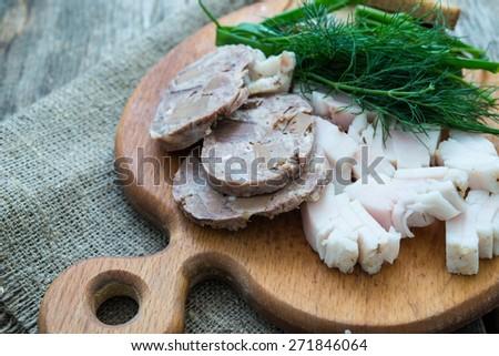 Homemade terrine - stock photo