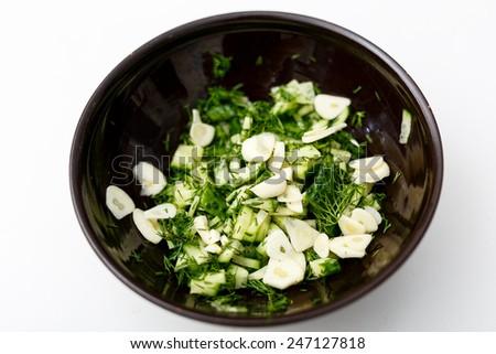 Homemade Tzatziki Sauce - stock photo
