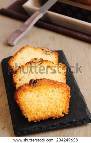 Homemade walnut cake  - stock photo
