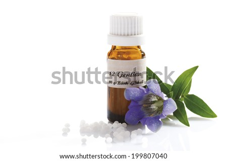 Homeopathic globules, Gentian (Gentiana)
