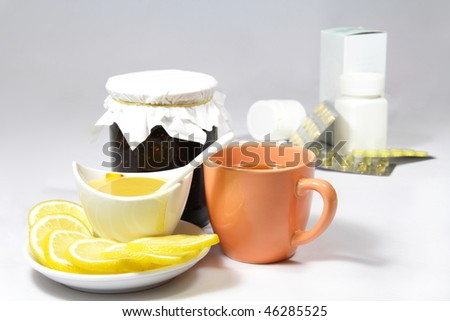 Homeopathic means of treating influenza and grippe - stock photo