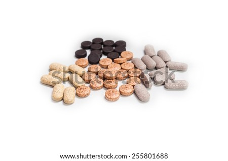 Homeopathic supplement. Alternative Medicine. Vitamin capsules . - stock photo