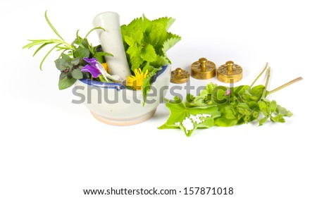Homeopathy isolated - stock photo