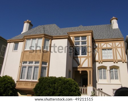 Homes in San Francisco, California - stock photo