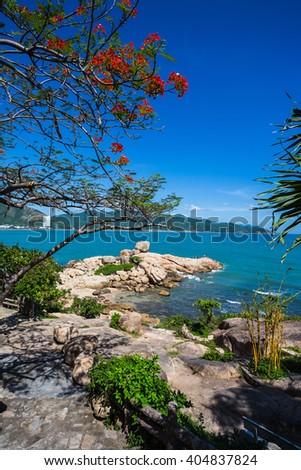 Hon Chong cape, Garden stone,  popular tourist destinations at Nha Trang. Vietnam - stock photo