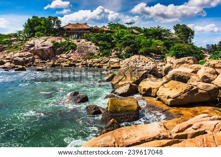 Hon Chong cape, popular tourist destinations at Nha Trang. Vietnam