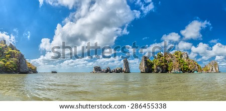 Hon paternal Vietnam sea landscape clouds, mountains, although the Hon father not, but also the pride of the people of Kien Giang, Vietnam