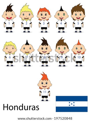 Honduras team football on a white background - stock photo