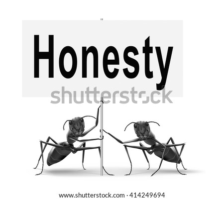 Honest honesty leads a long way find justice search truth, road sign.