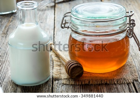 Honey and milk