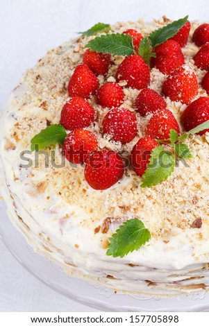 Strawberry cake Stock Photos, Images, & Pictures | Shutterstock