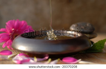 Honey dripping - stock photo