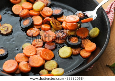 Honey glazed butter fried carrot