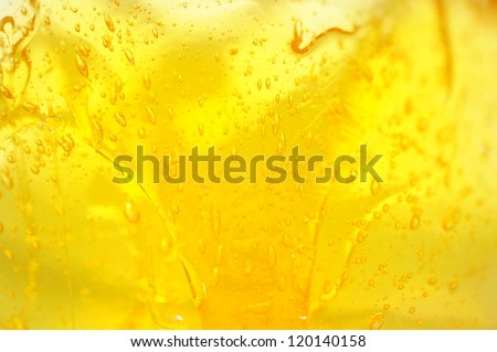 Honey in the glass jar