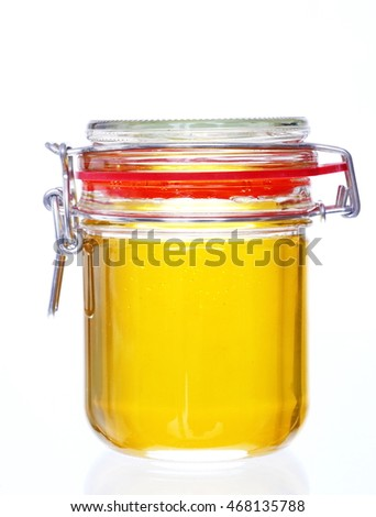 honey jar isolated