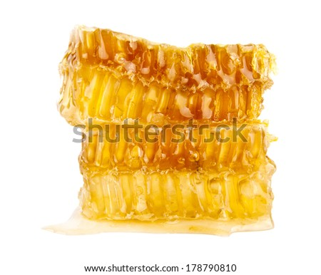 honey on a white background - stock photo