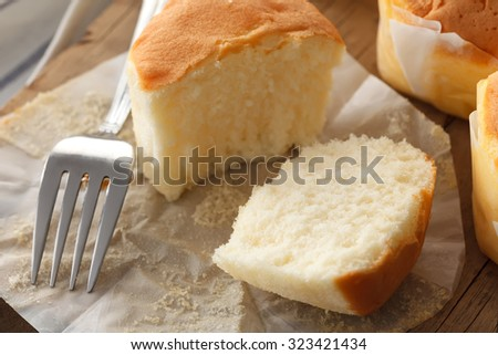 honey soft cake sweet dessert yummy bakery still life closeup tea break delicious background   - stock photo