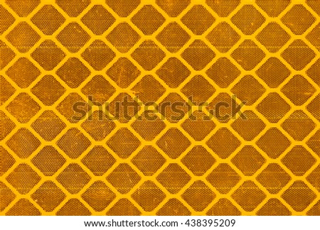 Honeycomb Like Pattern From A Close Up Of Reflective Tape Background And Texture In