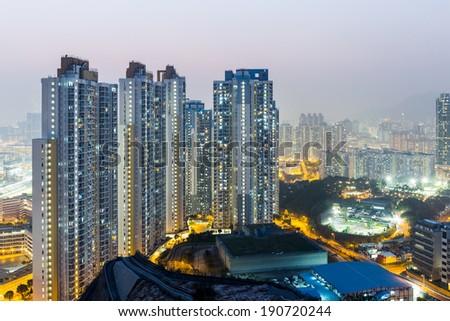 Hong Kong apartment block - stock photo