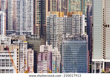 HONG KONG - April 12: Scene of the Victoria Harbour and skyscrapers on April 12, 2014 in Hong Kong.
