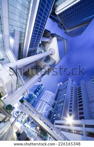 Hong Kong architecture - stock photo