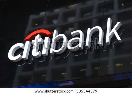 Hong Kong Aug 11 2015 Citibank Stock Photo Image Royalty Free