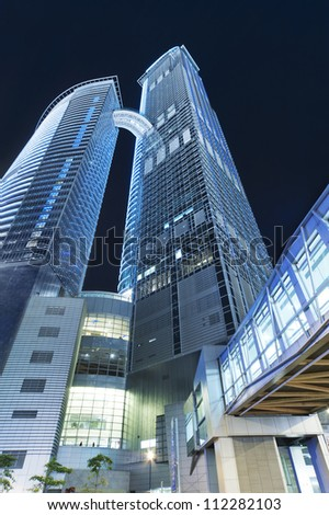 HONG KONG - AUG 20 : Nina Tower on August 08, 2012 in Hong Kong. 320 meter tall and is 6th tallest building in Hong Kong.