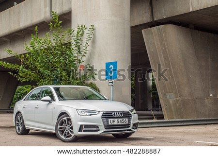 Hong Kong, China Aug 15, 2016 : Audi A4 2016 Test Drive Day on Aug 15 2016 in Hong Kong.
