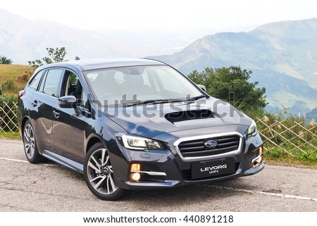 Hong Kong, China Dec 18, 2015 : Subaru LEVOGE 2015 Test Drive Day on Dec 18 2015 in Hong Kong.