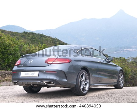 Hong Kong, China Jan 4, 2016 : Mercedes-Benz C-Class Coupe 2016 Test Drive Day on Jan 4 2016 in Hong Kong.