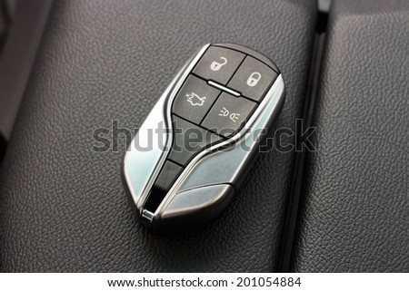 Hong Kong, China June 5, 2014 : Maserati Ghibli sport sedan wireless car key on June 5 2014 in Hong Kong. - stock photo