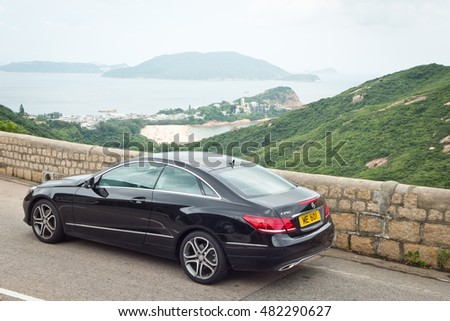 Hong Kong, China June 14, 2016 : Mercedes-Benz E 250 Coupe 2016 Test Drive Day on June 14 2016 in Hong Kong.
