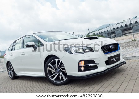 Hong Kong, China June 14, 2016 : Subaru Levorg 2016 Test Drive Day on June 14 2016 in Hong Kong.