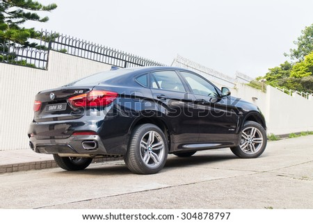 Hong Kong, China March 18 2015 : BMW X6 M Edition 2015 Test Drive on March 18 2015 in Hong Kong.