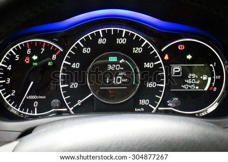 Hong Kong, China May 5 2015 : Nissan Note 2015 Dashboard on May 5 2015 in Hong Kong.
