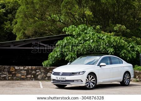 Hong Kong, China May 17 2015 : Volkswagen Passat 2015 Test Drive on May 17 2015 in Hong Kong. - stock photo