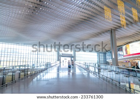 HONG KONG, CHINA - NOV 18: Hong Kong International Airport on Nov 18, 2014 in Hong Kong, Hong Kong airport is one of the world's best airport.
