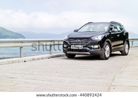 Hong Kong, China Nov 17, 2015 : Hyundai SantaFe 2015 Test Drive Day on Nov 17 2015 in Hong Kong.
