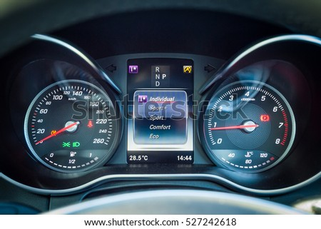 Hong Kong, China Nov 14, 2016 : Mercedes-Benz GLC 250 Coupe Dashboard on Nov 14 2016 in Hong Kong.