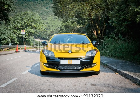 Hong Kong, China OCT 18, 2011 : Renault MEGANE Sportback test drive on OCT 18 2011 in Hong Kong. - stock photo