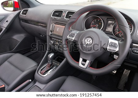 Volkswagen Golf Stock Images RoyaltyFree Images Vectors - 2013 volkswagen golf gti interior