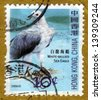 HONG KONG - CIRCA 2006: A stamp printed in Hong Kong, China shows White-bellied Sea Eagle - Haliaeetus leucogaster, series devoted to the birds, circa 2006 - stock photo