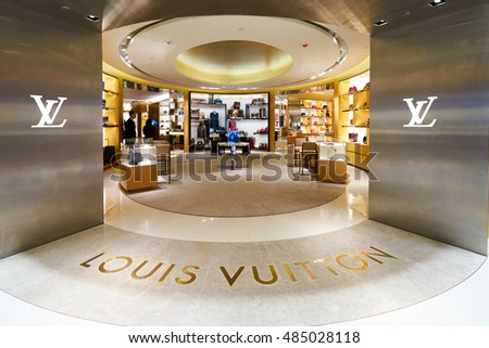 HONG KONG - CIRCA JANUARY, 2016: Louis Vuitton store in Hong Kong. Louis Vuitton is a French fashion house, one of the world's leading international fashion houses.