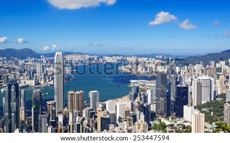 hong kong city at day